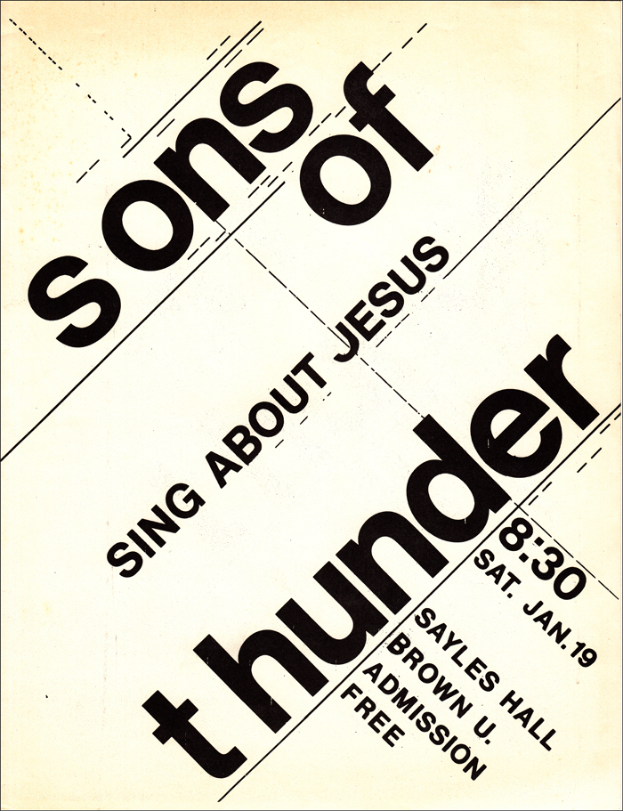 washington d c s sons of thunder posters and flyers 1980 Chevy Truck some sot concerts were scheduled on short notice like this one at brown university in january 1974 scheduled after the above itinerary was printed
